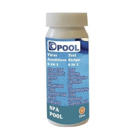 Tiras de análisis de sal para piscina - DPOOL