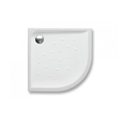 Plato de ducha de porcelana angular con fondo antideslizante MALTA - ROCA