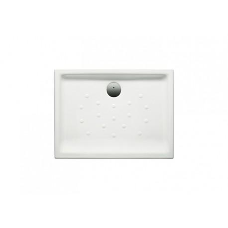 Plato de ducha de porcelana blanco con fondo antideslizante MALTA - ROCA