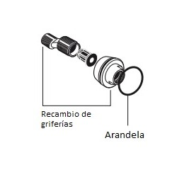 Arandela plana de apoyo 50x64x4 - ROCA