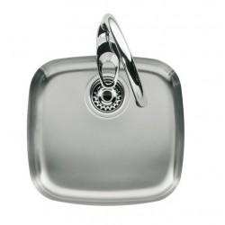 Fregadero de cocina de acero inoxidable texturizado 404x384 BP-2 - ROCA