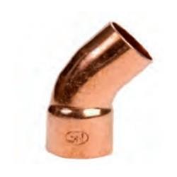 Accesorio de cobre curva 45° MH SERIE 5000 - Conex Bänninger