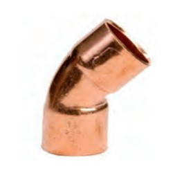 Accesorio de cobre curva 45° HH SERIE 5000 - Conex Bänninger