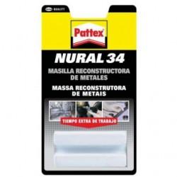 Masilla reconstructora de metales Nural 34 - PATTEX