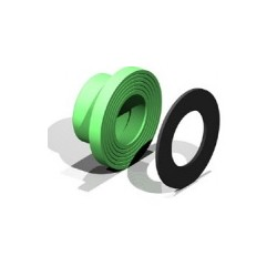 Portabridas con revestimiento de plástico 125 mm - AQUATHERM