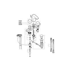 Juego de mecanismo para cisterna A3_I + D2_D VICTORIA - ROCA