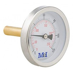 Termómetro bimetálico horizontal - HECAPO