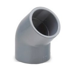 Codo 45º encolar PVC - HIDROTEN