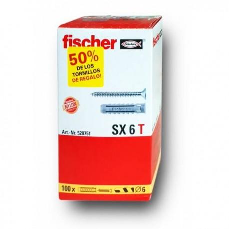 Caja de tacos SX + tornillos - FISCHER