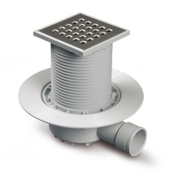 Sumidero sifónico para plato de ducha de obra salida horizontal R-143 - RIUVERT