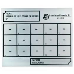 Placa de identificación para contadores de agua