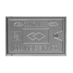Tapa metálica para contador de agua