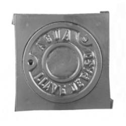 Registro de aluminio para llave de corte
