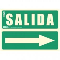 PLACA SEÑAL SALIDA DCH 29,7X21