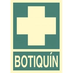 Placa señalización de botiquín