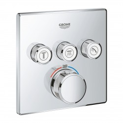 Grifo empotrado 3 llaves GROHTHERM SMARTCONTROL cromo - GROHE