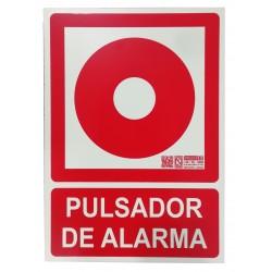Placa de señalización - Pulsador de alarma