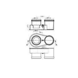 Adaptado doble flujo 80 mm Slim - SAUNIER DUVAL
