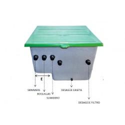 Caseta enterrada con filtro ALASKA 500+bomba Power Flow II 0.8HP - CORAL
