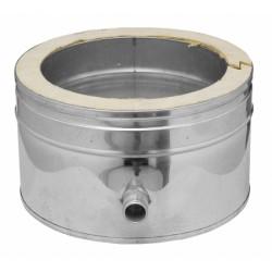 Colector de hollín corto c/desagüe 80 mm SW PELLETS AISI 316L - DINAK