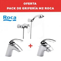 Pack de grifería de baño (con grifo de ducha) M2 - ROCA
