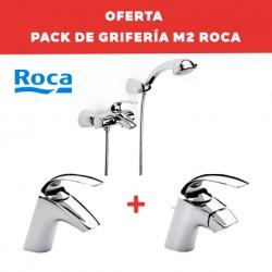 Conjunto de grifería de baño (con grifo de ducha y bañera) M2 - ROCA