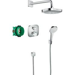Set de ducha empotrado con termostato Ecostat E Croma Select E - HANSGROHE